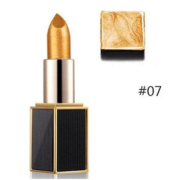 Lipstick,Toraway Shimmer Gold Lipstick Glitter Pigment Metallic Lip Gloss Long Lasting Eyeshadow (G