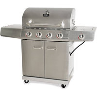 Blue Rhino Global Sourcing, Inc. Better Homes and Gardens 4-Burner Gas Grill, Stainless Steel