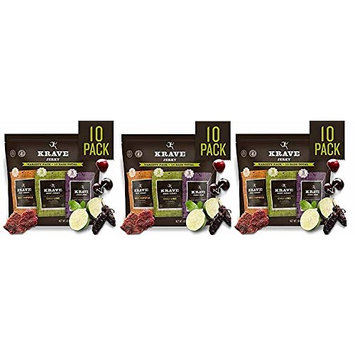 KRAVE Jerky Variety Pack, 10 Count, Beef & Pork (3-(Pack))