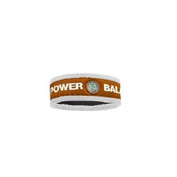 Authentic Power Balance Neoprene Wristband - Texas Orange/White - Large