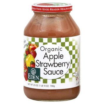Eden Foods Organic Apple Sauce Strawberry 25 oz