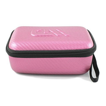 CASEMATIX Pink Shaving Case Fits Panasonic ES2207P Ladies Electric Shaver, Panasonic ES2216PC and Panasonic ES-ED90-P Wet/Dry Epilator with Select Accessories