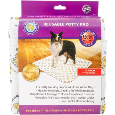 PoochPad Pet Training Pad - Large 30 by 32 inch - 2 pack