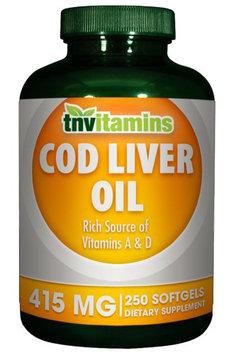 Tnvitamins Norwegian Cod Liver Oil 415 Mg - 250 Softgels