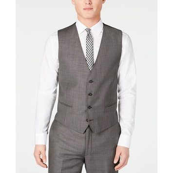 Men's X Slim-Fit Stretch Charcoal Mini Grid Suit Separates