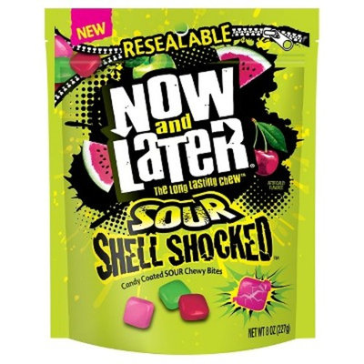 Now & Later Sour Shell Shocked Candy Coated Chewy Bites - 8oz