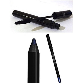 ITAY Minerals Eye Makeup Duo: Intense Volume Fibers Mascara + Line Fix Gel Pen Eyeliner Blue