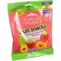 Yummyearth, Inc. YumEarth Organics Pineapple, Raspberry & Mango Fruit Snacks, 2 oz, (Pack of 12)
