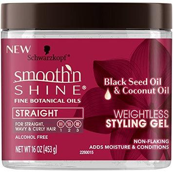 SMOOTH N SHINE STRAIGHT WEIGHTLESS STYLING GEL BLACK SEED 16oz