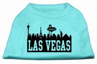 Mirage Pet Products 5168 XLAQ Las Vegas Skyline Screen Print Shirt Aqua XL 16