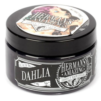 Herman's Amazing Vegan Semi-Permanent Direct Hair Color Dye (4oz) Black Dahlia