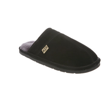 RJ's Mens Sheepskin Leather Lined Scuff Slippers