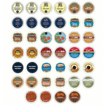 Gns Sales Creamy Vanilla and Heartwarming Hazelnut Sampler Ultimate Coffee Variety K-Cup and RealCup Portion Pack for Keurig Brewers 2 Of Each (40 Count Total)