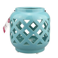 Better Homes and Gardens Small Teal Ceramic Lantern