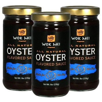 Wok Mei All Natural Gluten Free Oyster Flavored Sauce Set of 3, 8 oz each