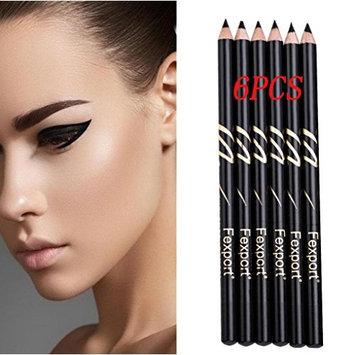 Eyeliner Lipliner Set, YOYORI Waterproof Makeup Eyeliner Lip Line Pen Eye Shadow Lipstick Color 6 PC