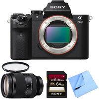 Sony Alpha 7II Mirrorless Interchangeable Lens Camera Body w/ 24-240mm Lens Bundle