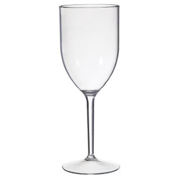 CreativeWare 8 Pack 12oz. Acrylic Wine Glasses - Clear