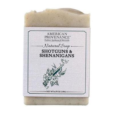 American Provenance 232442 4.75 oz Shotguns & Shenanigans Bar Soap