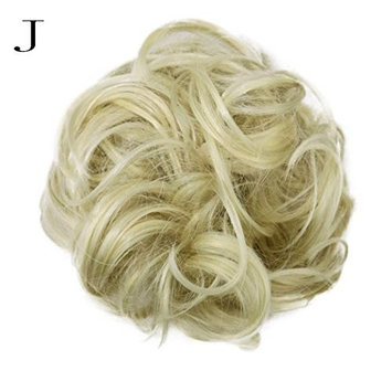 dzt1968 Women Curly Bun gorgeous Hairpiece Scrunchie Wigs Extensions Hairdressing (J)