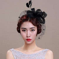 Blackzone Women Retro Bow Net Veil Hat Clip Hair Accessories Gift