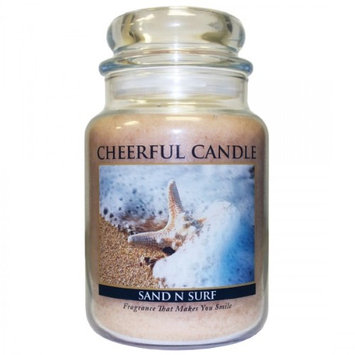 A Cheerful Candle JC36 15Oz. Sand N Surf Signature Colonial Jar