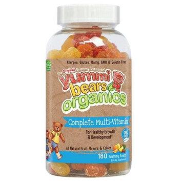 Yummi Bears Organics Children Multi-Vitamin and Mineral 180 Gummy Bears For Healthy Growth & Develop