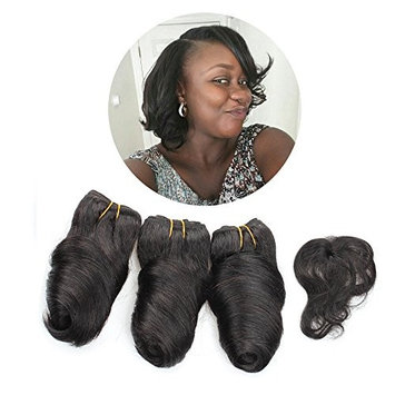 KISS HAIR 3 Pcs Romance Curl Human Hair Weave Double Body Wave Unprocessed Brazilian Virgin Hair Extensions 8 inch For Short Bob Style
