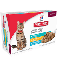 Hills Hill's Science Diet Adult Tender Dinner Variety Pack Wet Cat Food, 5.5 oz, Pack of 12