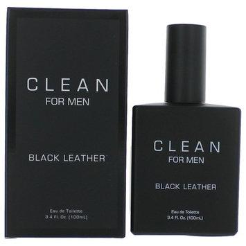 Clean Black Leather Eau de toilette Spray For Men 3.4 oz