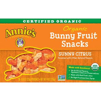 Annie's Organic Sunny Citrus Bunny Fruit Snacks, Gluten Free, 4 oz