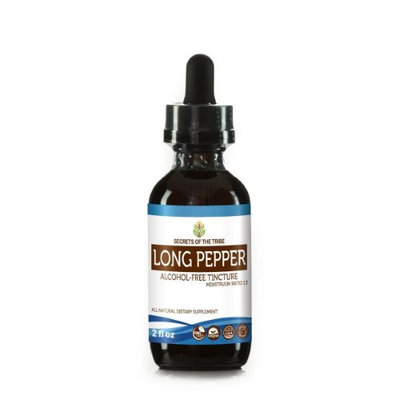 Secrets Of The Tribe Long Pepper Tincture Alcohol-FREE Extract, Organic Long Pepper (Piper Longum) Dried Pepper 2 oz