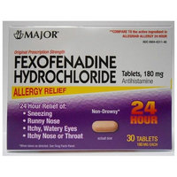 Major Fexofenadine 180mg TAB 30ct (Compare To: Allegra OTC 24 Hour)