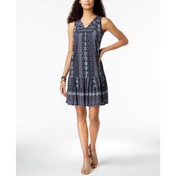 Petite Sleeveless Printed Shift Dress, Created for Macy's