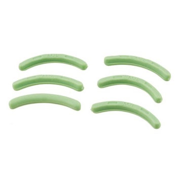 uxcell 6 Pcs Green Cosmetic Accessories Rubber Replacement Eyelash Curler Pad