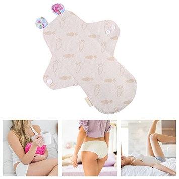 Sanitary Napkins, 250mm Reusable Organic Cotton Menstrual Pad Washable Day&Night Panty Liner Sanitary Cloth(#4)