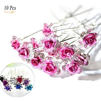 Jelinda Rose U-shaped Bridal Wedding Crystal Hair Pins Clips Flower Crystal Hair Pins Metal Hair Pins Comb