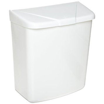 Hospital Specialty Co. Health Gards Convertible Sanitary Napkin Receptacle, Plastic, 1 gal, White - Includes one each.