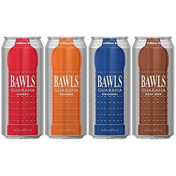 Bawls Energy Drink - 4 - 16oz Cans (4 Flavor Sampler)