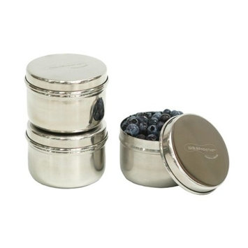 U Konserve - Stainless Steel Mini Food Containers, Environment Friendly Reusable Jars, Ideal for Small Foods (3 Ounce, Pack of 3)