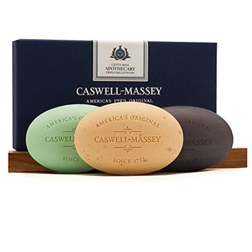 Caswell-Massey Triple Milled Luxury Bath Soap Set - Almond Cold Cream - 5.8 Ounces Each, 3 Bars [Centuries Almond with Cold Cream]