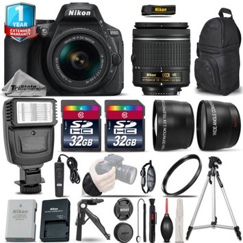 Tristatecamera Nikon D5600 DSLR Camera + 18-55mm VR - 3 Lens Kit + Flash + 1yr Warranty + 64GB