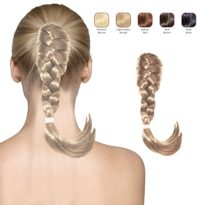Buy 2 Hollywood Hair French Plat Hair Piece and get 1 Free - Platinum Blonde (Pack of 3)