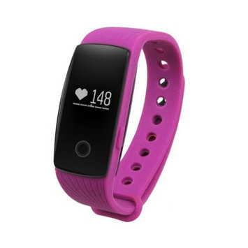 TechComm YX107 Fitness Activity Tracker with Heart Rate Monitor, Bluetooth, Call and Text Notifications, Pedometer, Sedentary Reminder, Sleep Monitor, Anti-Lost Alarm and Remote Camera - Purple