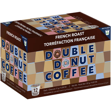 Double Donut, French Roast Coffee in Recyclable Single Serve Cups, 24 Ct