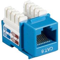 Black Box CAT6J-BL-25PAK Box Cat6 Value Line Keystone Jack, Blue, 25-Pack - 25 Pack - 1 X