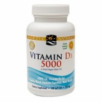 Nordic Naturals Vitamin D3 5000 - Potent Dose of Vitamin D3 for Bone Health, Mood and Sleep Rhythm Support, and Immune System Function*, Orange, 120 Soft Gels [Standard Packaging]