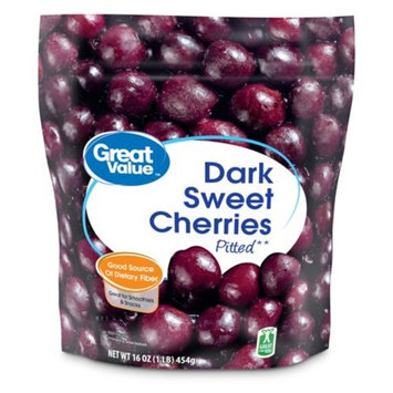 Great Value Dark Sweet Cherries, Pitted, 16 oz