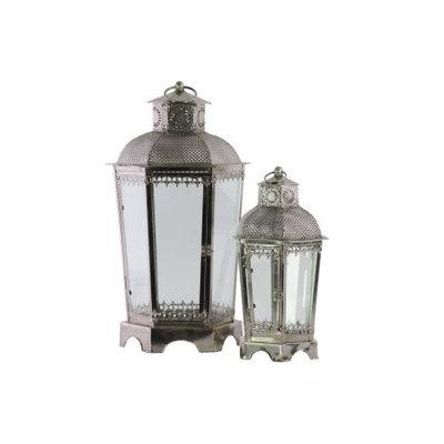 Urban Trends Collection: Metal Lantern Antique Finish