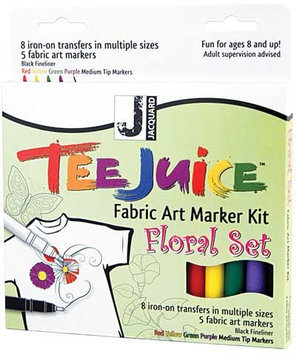 Jacquard Tee Juice Fabric Marker Kit (Floral)